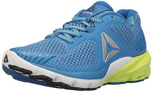 Reebok Women's OSR Harmony Road Running Shoe, Echo Awesome Blue/Fire Coral/White/Lead/Yellow, 11 M US