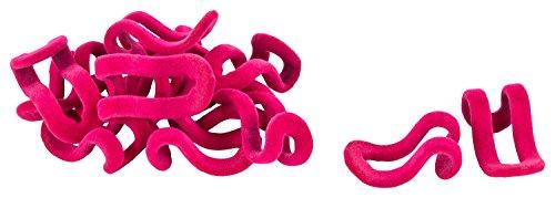 CH Handel platzsparende Kleiderbügel raumspar Verlängerung Mini Hakenverbinder Rack Haken Halter samt - Sparset 20 Stück, Farbe:pink