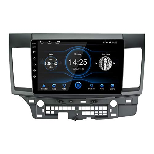 LEXXSON Android 10.1 Car Radio Stereo, 10 inch Capacitive Touch Screen High Definition Bluetooth USB Player for 2008-2017 Mitsubishi Ralliart Lancer EVO X Head Unit with OEM Rockford Fosgate AMP