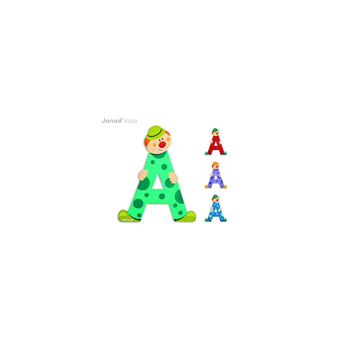 Janod-Letra-Serie-Payaso-DE-Madera-Estilo-Multicolor-J04542