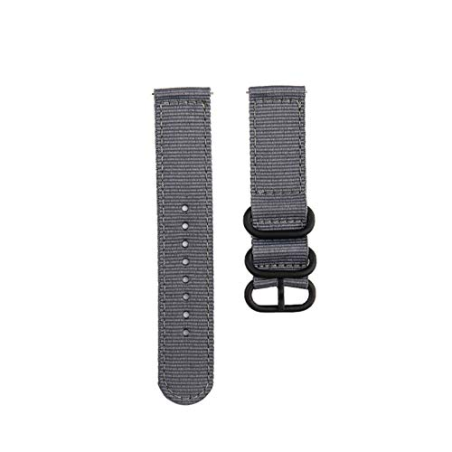 Correa de lona de nylon para MI Huami 3 2 2S / PACE/Banda de reloj de 47 mm para ver GT GT2 46mm correas 1033 (Band Color : Gray, Band Width : For Huawei GT2 46)