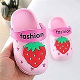 N-B Zapatos de Agua para niños, adorables Zapatillas de casa de Fresa para niñas, Antideslizantes, Zapatos de cocodrilo EVA para Exteriores, Zapatillas para niñas, Zapatos Suaves para niños