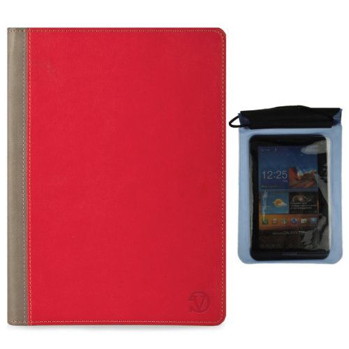 Deluxe Executive Portfolio for Acer Iconia B B1 720, B1 A71, B1 710, B1 7 inch Tablet and Blue Waterproof Sleeve