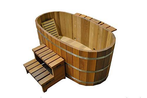 Northern Lights Group Japanese Wood Ofuro Soaking Tub for 2 – Electric Heater