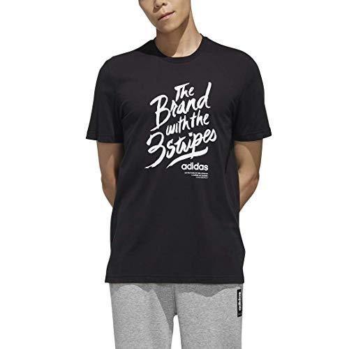 adidas M Slgn T Camiseta Manga Corta, Negro/Blanco, Hombre