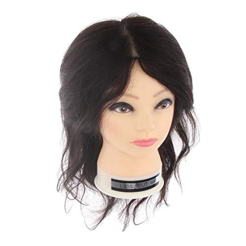 Fenteer Afro Tête d'apprentissage Tête à Coiffer Tête d'exercice Mannequin Head 100% Vrais Cheveux - #1