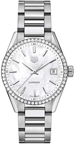 Tag Heuer Carrera Diamond White Mother of Pearl Reloj de mujer WBK1316.BA0652