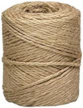 Twine String for Crafts, Jute Twine Rope, Burlap Hemp Cord, Decorative Natural Rustic Ribbon, 3-Ply, 2mm X 300 Feet.