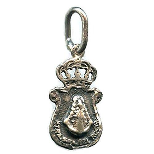 Medalla Virgen del Rocio Hermandad DE HUELVA 20x11 mm Plata DE Ley