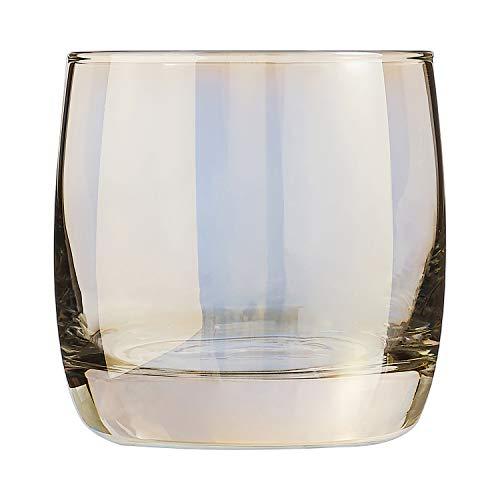 ARC 033300 Shiny - Juego de 4 vasos, cristal, dorado, 30cl