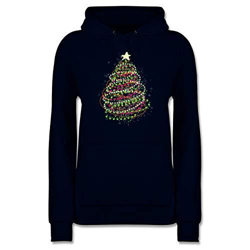 Weihnachten & Silvester - Abstrakter Weihnachtsbaum - M - Navy Blau - Pullover mit weihnachtsmotiv Damen - JH001F - Damen Hoodie und Kapuzenpullover für Frauen