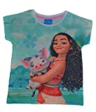 Vaiana Disney - Camiseta de manga corta para niña blanco 2 años