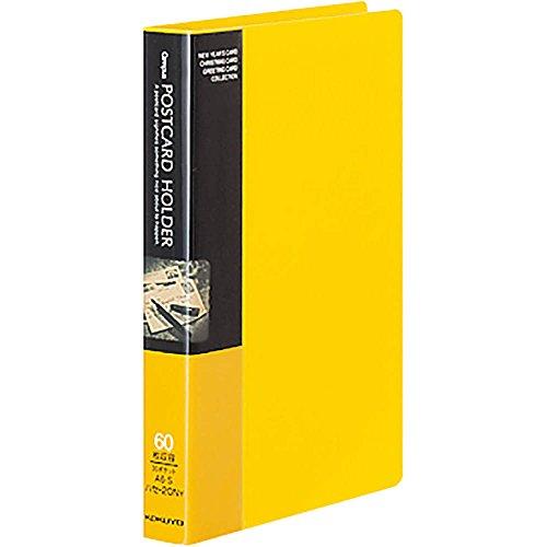 コクヨ ファイル ポストカードホルダー 固定式 A6 30ポケット 最大60枚収容 黄 ハセ-20NY