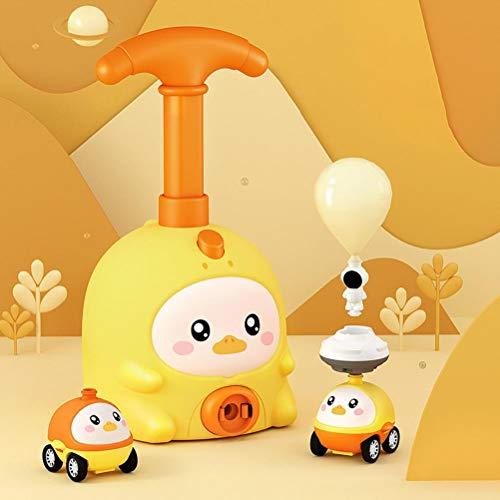 NANUNU Coche de juguete neumático de inercia para niños, juguete de experimentación científica no tóxico, coche eléctrico de globo para niños