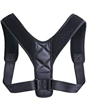 Bundle of 2, Anself Upper Back Belt Posture Corrector Support Corset Back Shoulder Braces Spine Support Health Care Adjustable Posture Strap