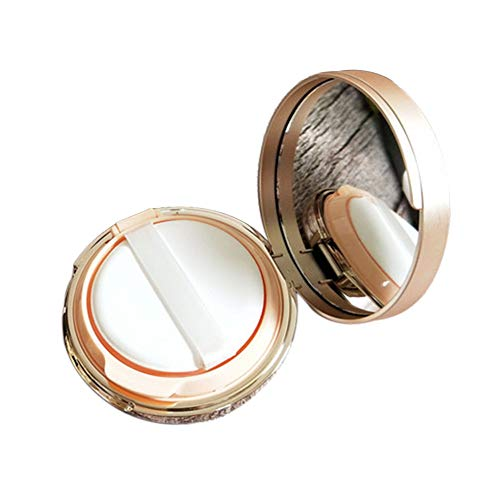 Luftkissen Box Dressing Case Spiegel BB Creme Behälter Halter Foundation Tool Flüssigkeit Praktisches DIY Make-up leer mit Puderquaste tragbaren Schwamm