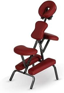Heaven Massage Deluxe Portable Folding Massage Chair w/Carry Case & Strap - Burgundy