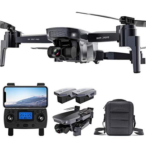 Pliers GPS Drone, 5g WiFi FPV RC. Drone Dual Telecamere for Adulti con 4K HD. Fotocamera, con Gimbal Meccanico a 2 Assi, Sistema di Posizionamento Doppio, App. Controllo, Batteria del modulo 2 Pezzi