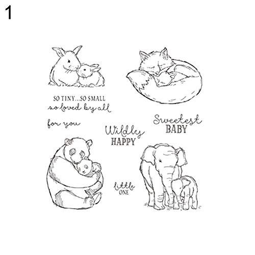 Lai-LYQ Stanzmaschine Stanzschablone, Glückliches Tier Scrapbooking Prägeschablonen Papier Handwerk Festival Dekor Geschenk Stamp