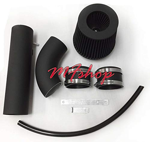 Performance 2pc Design Air Intake Filter System for 2004 2005 2006 Acura MDX With 3.5L V6 Engine (Black Coated) Acura Coated Intake System