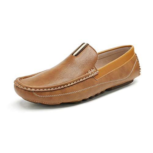Bruno Marc Men's Tan Driving Moccasins Loafers Slip on Loafer Shoes Size 7.5 BM-Pepe-2