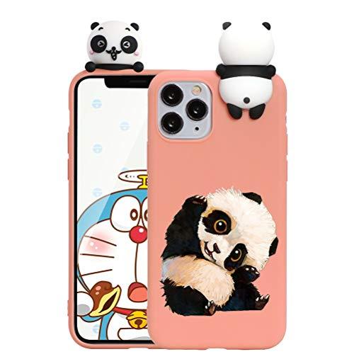 ZhuoFan Funda para Apple iPhone 11, Cárcasa Silicona 3D Muñecas con Dibujos Colores Diseño Suave Gel TPU Antigolpes de Protector Case Cover Fundas Movil para iPhone11, Panda 4