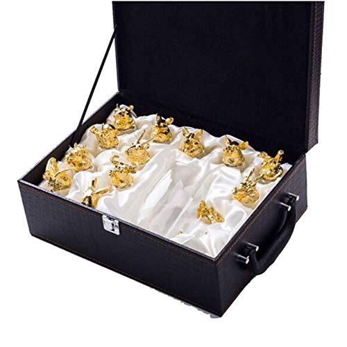 LYMHGHJ Mini Dispenser di Whisky da 12 Pezzi con 12 Bicchieri da Vino, Grande Confezione Regalo di Bottiglie di Vetro Senza Piombo, Bicchieri, per Qualsiasi appassionato di Whisky