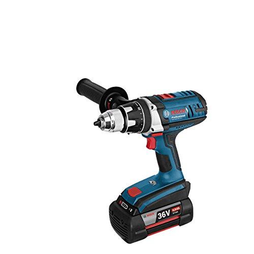 Preisvergleich Produktbild Bosch Professional GSR 36 VE-2-LI,  Akkuspannung,  12 mm Schrauben,  100 / 60 Nm Drehmoment,  Schnelllader,  L-Boxx,  Zusatzhandgriff,  2 x 4, 0 Ah Li-Ion Akku,  36 V,  06019C0100