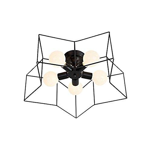 Suspension moderne simple - Lampe suspendue - Style - Suspension - Design rond - Couleur : noir - Fer - Diamètre : 55 cm