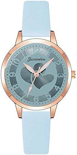 JZDH Reloj de Pulsera, Reloj de Cuarzo de Cuero + aleación. 3ATM Reloj Deportivo a Prueba de Agua. 9 Colores Disponibles