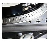 N\A Alfombrilla de ratón Alfombrilla de ratón para Juegos Reproductor de Tocadiscos con Disco de Vinilo Musical Útil para DJ Nightclub Retro Theme PN00X2119