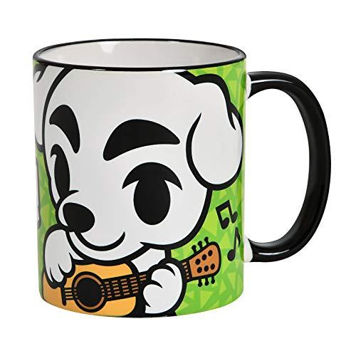 Elbenwald Tasse mit K.K. Slider Rundumdruck für Animal Crossing Fans 320 ml Keramik grün