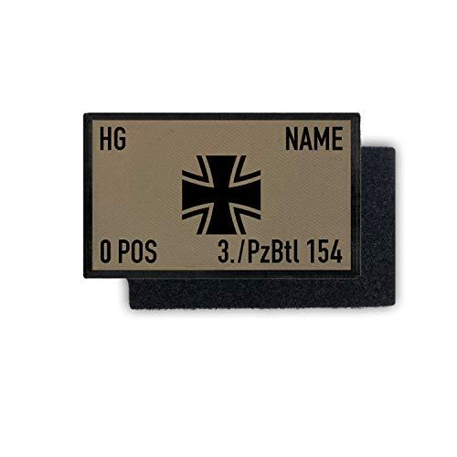 Copytec Rank Patch 9,8x6cm Bundeswehr Dienstgrad Name Einheit Blutgruppe #35397, Farbe:Sand