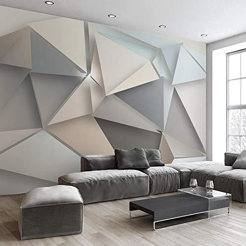 Fotomurales Foto 3D Fondo De Tv Moderno Sala De Estar Dormitorio Arte Abstracto Mural De Pared Papel Tapiz Geométrico Para Revestimiento De Paredes Seda 350X256Cm