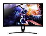 AOPEN 32HC1QURPbidpx Monitor Curvo Free Sync da 32', Display WQHD (2560x1440), 144 Hz, Luminosità 250 cd/m², Tempo di Risposta 4 ms, DVI, HDMI, DP, Nero