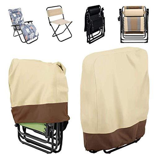 Outdoor Folding Reclining Chair Cover,Waterproof Veranda Zero Gravity Outdoor Folding Chairs Cover Garden Sunbed Sun 1PCS