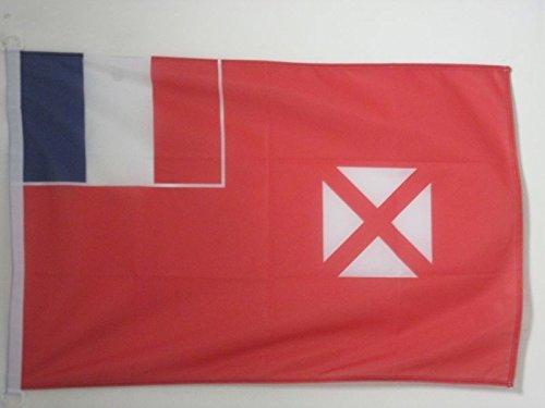 AZ FLAG Flagge Wallis UND Futuna 90x60cm - Wallis ET Futuna Fahne 60 x 90 cm Aussenverwendung - flaggen Top Qualität