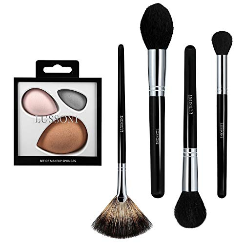 T4B LUSSONI Classy Girl Set 5 Pcs Pinceaux Maquillage Professionnel 1 Set Eponges
