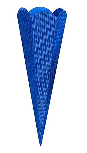 goldbuch Bastelschultüte 6-eckig, Rohling zum Selbsgestalten, Mit Steckverschluss zum Zusammenstecken, 68 cm, Blau, 97855