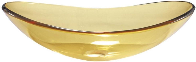 Fen transparent gehrtetem Glas Waschbecken Waschbecken Waschbecken 550 360 H165mm