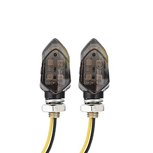 Las señales de Giro de la Motocicleta de 12V 8mm LED Light Mini Indicadores Light Super Super SUPTER Amber Amber LÁMPARA E24 / Ajuste para KAWASAK (Color : 2PCS Smoked)