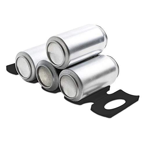 kwmobile 1x Faltbarer Flaschenhalter Kühlschrank Schrank - 31 x 9,5 x 1,0cm - Silikon Flaschenablage Stapelhilfe in Schwarz