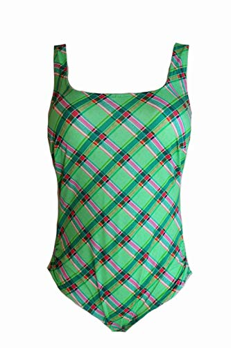 Lidea Badeanzug 85 E Grün Karo Grenadine Swimsuit Swim Swimwear X83