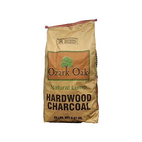 Ozark Oak Premium Natural Hardwood Lump Grill and Smoker Charcoal Briquettes, 20-Pound Bag
