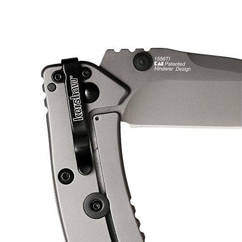 Kershaw Cryo II Pocket Knife (1556TI); 3.25 In. 8Cr13MoV Titanium Carbo-Nitride Coated Blade; 410 Handle, SpeedSafe Assisted, Flipper, Frame Lock, Lockbar Stabilizer, 4-Position Pocketclip; 5.5 oz