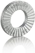 Wedge Locking Washer Carbon STL Zinc FLK CTD Thru Hardened M8(5/16) Large O.D. 20 glued PRS/Pack