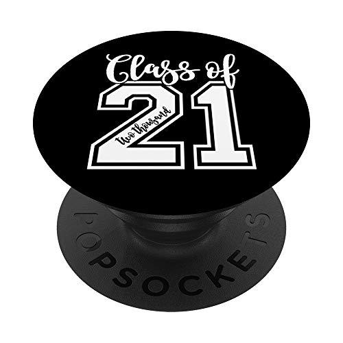Regalo de graduación de la clase de 2021 Senior 21 PopSockets PopGrip: Agarre intercambiable para Teléfonos y Tabletas