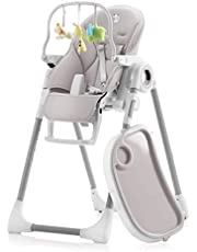 Sweety Fox - Baby Toddler Grow Chair, Adjustable and Foldable with Play Arch - 7 Heights, Backrest Child 5 Positions, Removable Tray, Snap Platter, High Chair