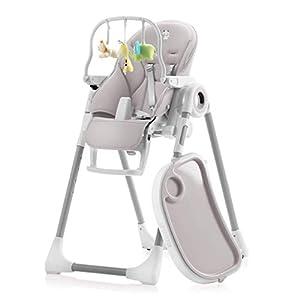 Trona para bebés regulable - Respaldo para Niño Reclinable 5 Posiciones - 7 Alturas Diferentes - Cojín Bebé Confort - 7 Alturas Diferentes - Trona para Bebe