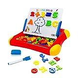 RONGJJ Lavagna Magnetica Bambini Magica per Bambini, Tavoletta da Disegno Cancellabile Giocattolo Educativo Stampini 1 Penna-Regali di Compleanno di Natale